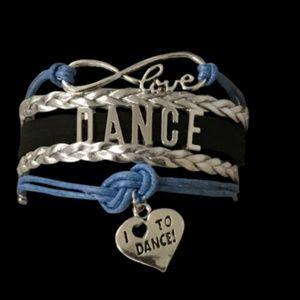 Girls Dance Bracelet - Blue Black & Silver